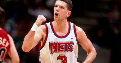 Dražen Petrovič v dresu Nets